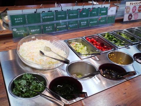 ビュッフェコーナー:サラダ1 ステーキガスト一宮尾西店2回目