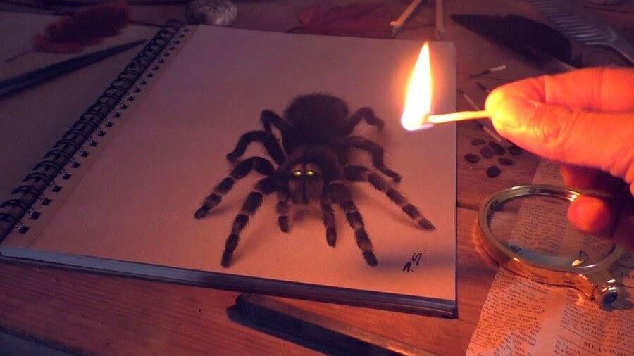 07-Black-Tarantula-Stefan-Pabst-3D-Art-www-designstack-co