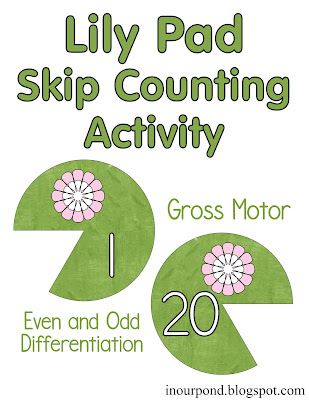 FREE Lily Pad Gross Motor Skills Activity Printable from In Our Pond