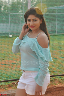Madhulagna Das looks super cute in White Shorts and Transparent Top 58.JPG