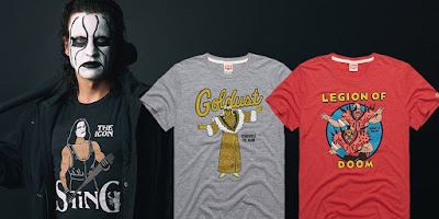 New WWE Superstars Retro T-Shirts by HOMAGE featuring Sting, Goldust & Legion of Doom