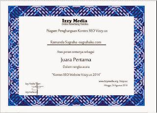Reward Pertama Sugrahaku dari Izzy Media Network