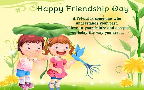 Two Friends Are together on Friendship day