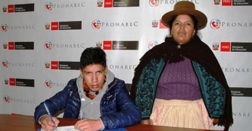 PRONABEC: 52 jóvenes de Huancavelica postulan a Beca 18 Internacional - www.pronabec.gob.pe