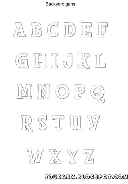 Modelo de letras backyardigans