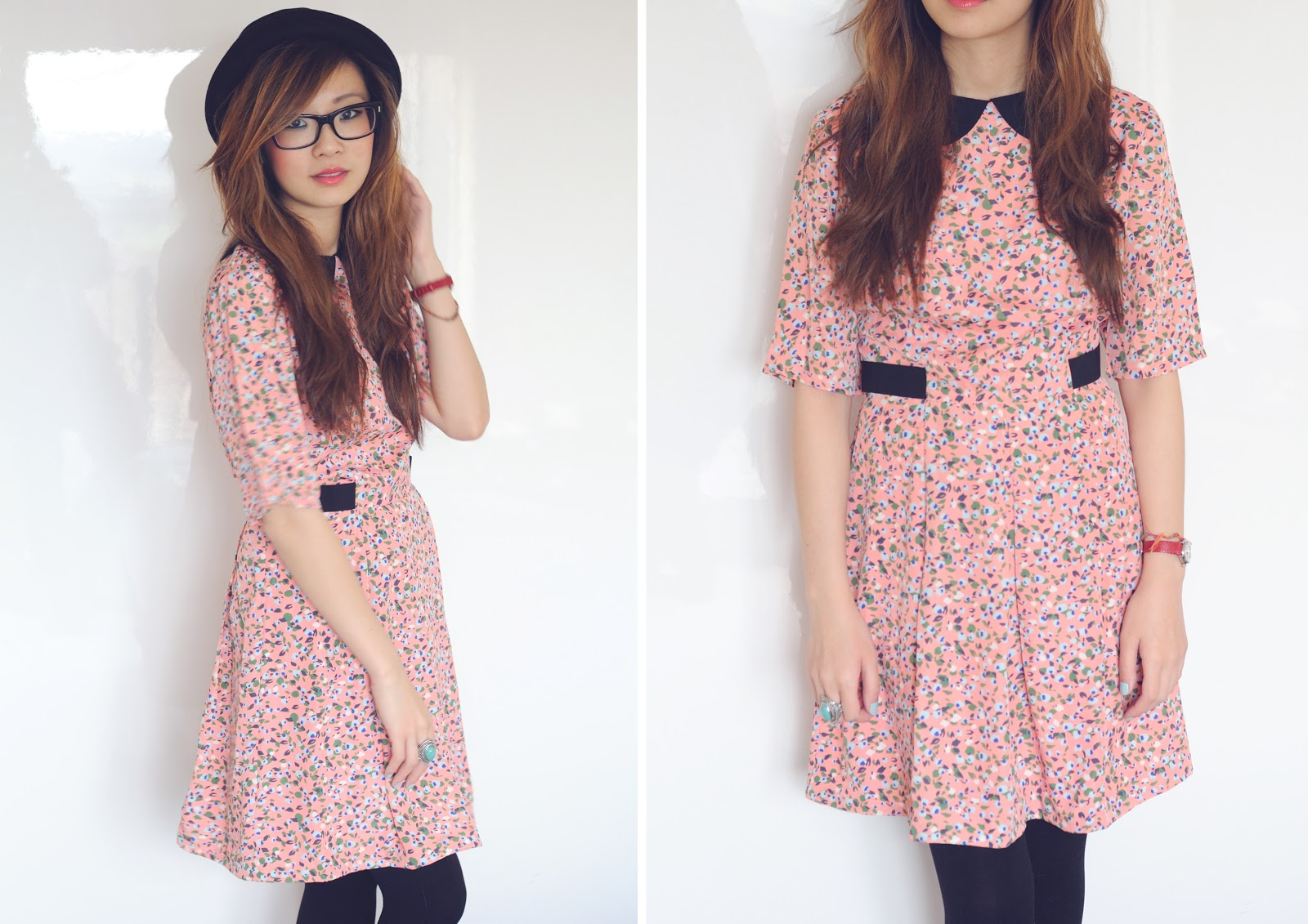 fashion blogger uk floral dress