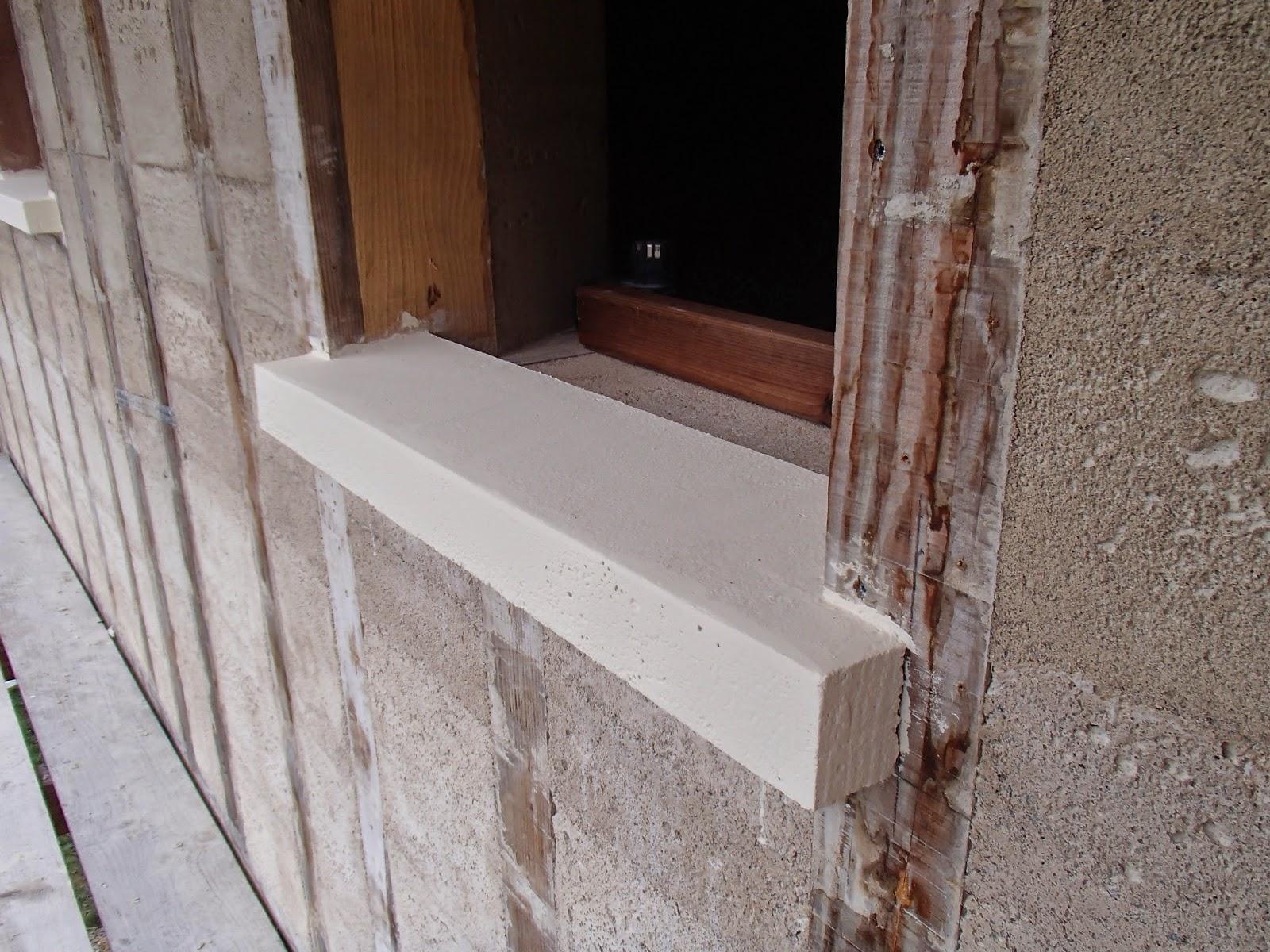 Autoconstruction bois et paille en vallée d'Ossau (64): Fabrication des appuis de fenêtres