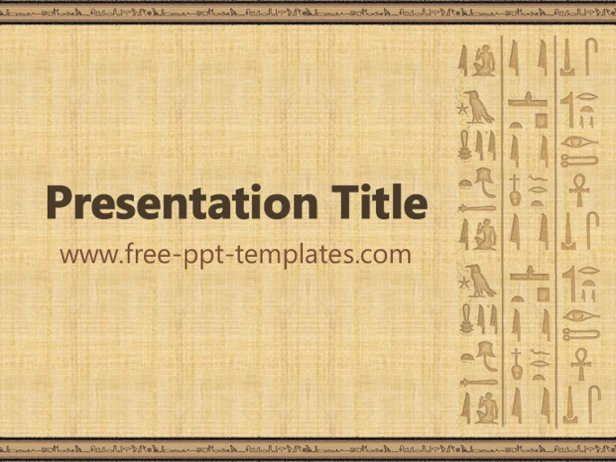 egyptian ppt template