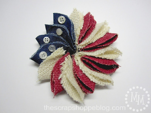flag pin button stars