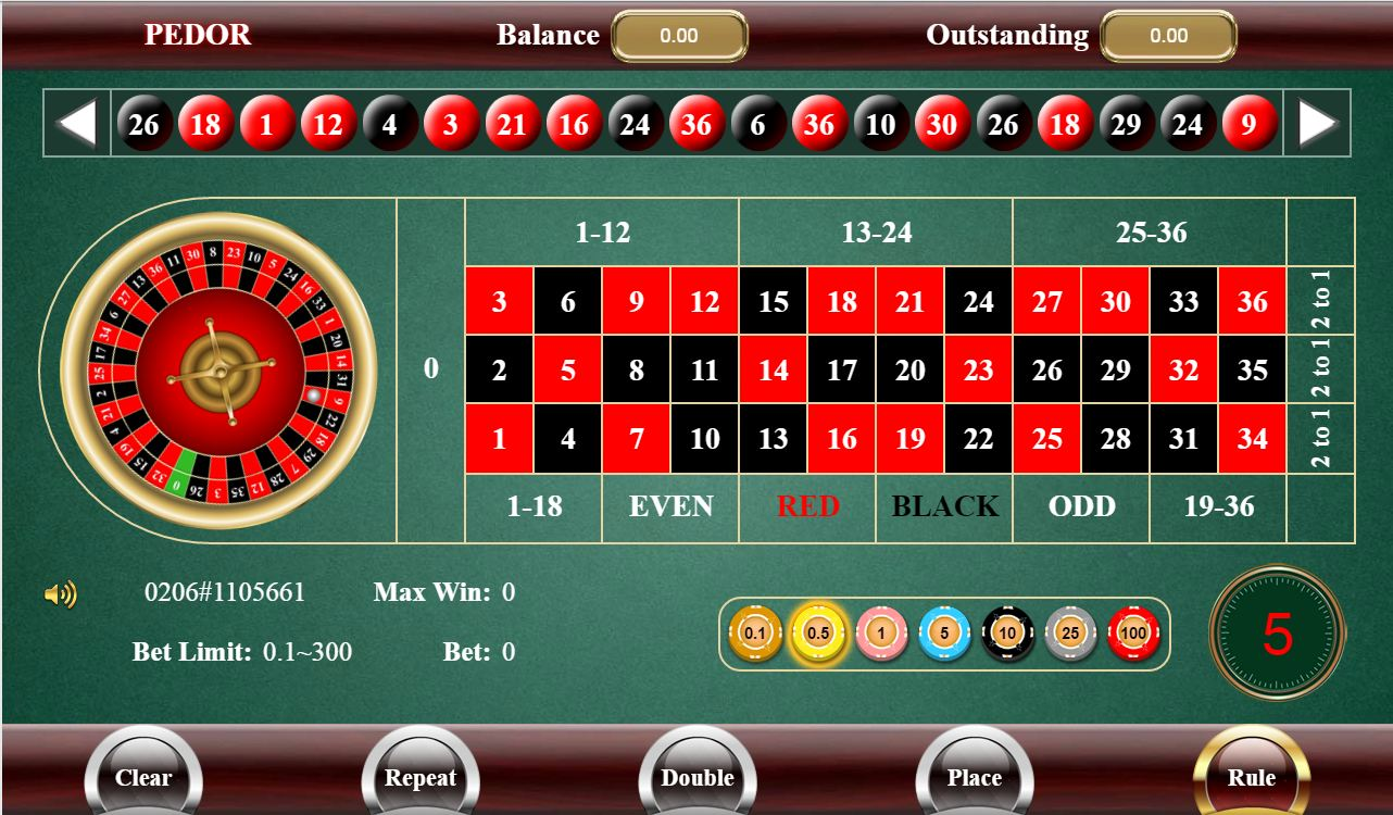 Roulette system red black double