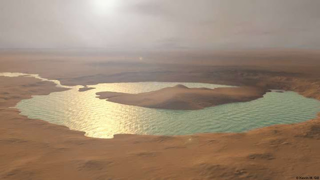 Was this huge river delta on Mars the place where its oceans finally disappeared?
