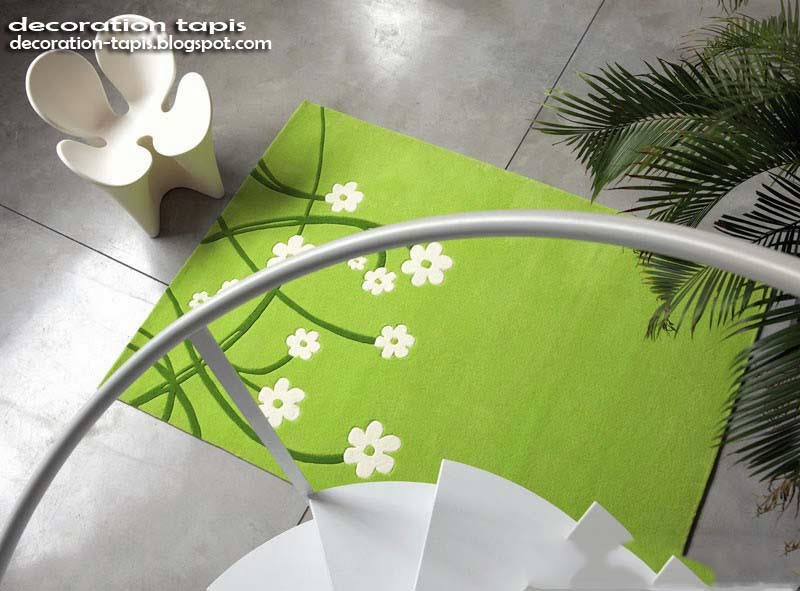 decoration tapis vert