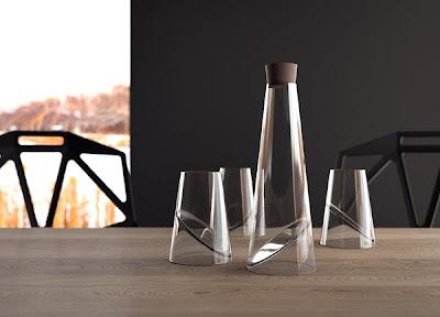 Juego de cristalería muy sofisticado y moderno