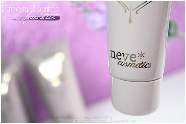 creamy confort foundation Fondotinta Neve Cosmetics vegano