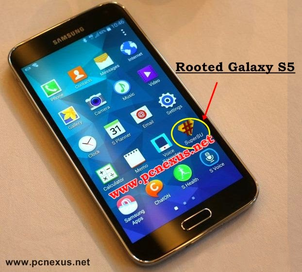 rooted galaxy s5 SuperSU installed