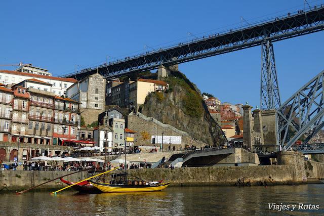 Puente Pênsil a los pies de Don Luis I, Oporto