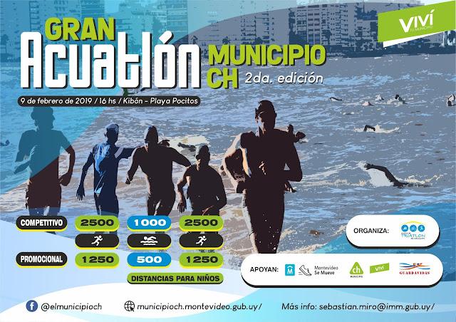 Gran Acuatlón Municipio CH (Kibón y playa Pocitos - Montevideo, 09/feb/2019)
