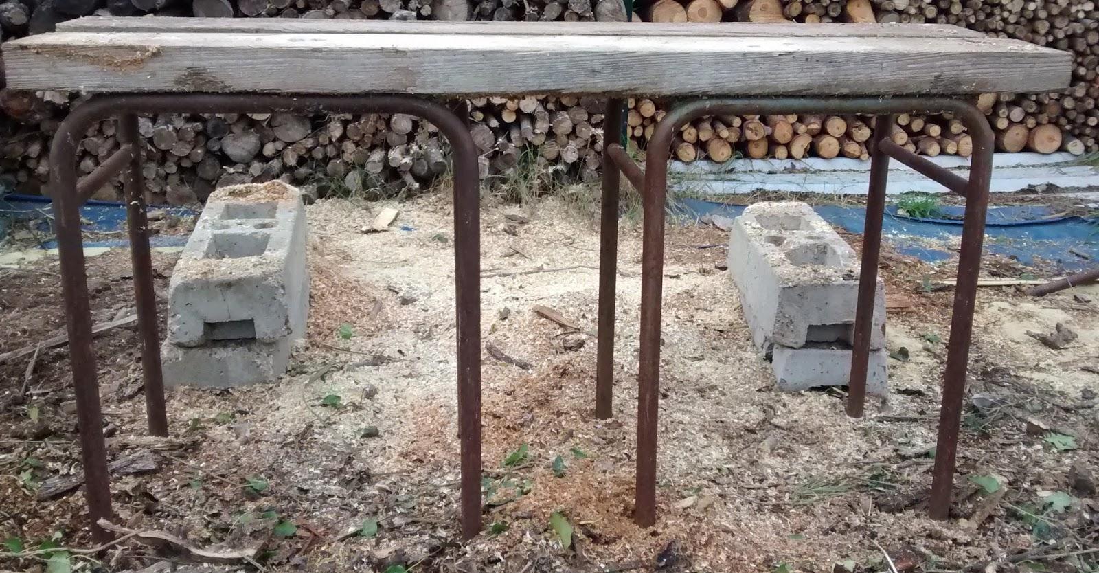 Grinchou blog chevalet de tron onnage simple et efficace pour couper son bois de chauffage - Plan pour fabriquer support hamac ...