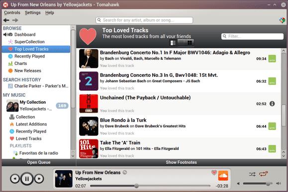 Tomahawk - Aplikasi Pemutar Musik PC Terpopuler