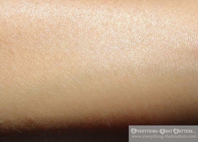 Iraya Wheatgerm Facial Massage Cream blended on skin