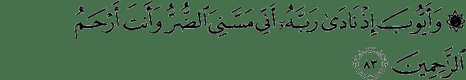 Surat Al Anbiya Ayat 83