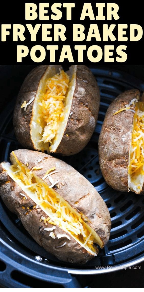 Air Fryer Loaded Baked Potato