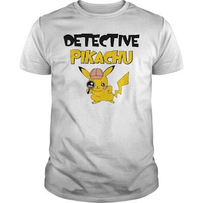 Detective Pikachu T Shirts Hoodie Sweatshirt