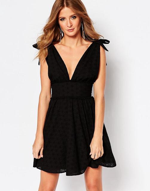 Millie Mackintosh black shoulder dress,