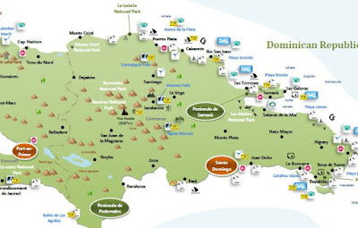 interactive tourist travel map HAITI & DOMINICAN REPUBLIC
