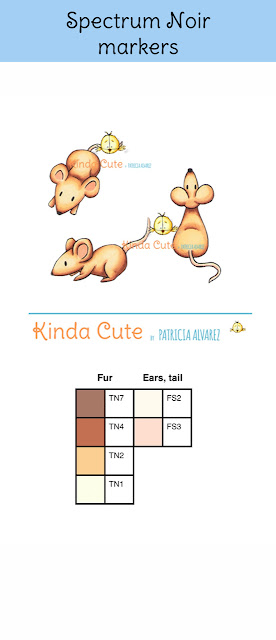 Spectrum noir coloring for brown mice