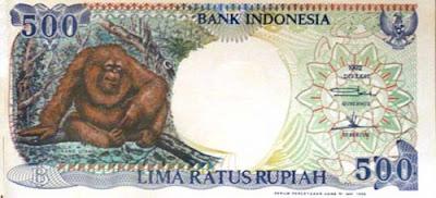 Gambar uang kertas Indonesia Rp 500 tahun 1992