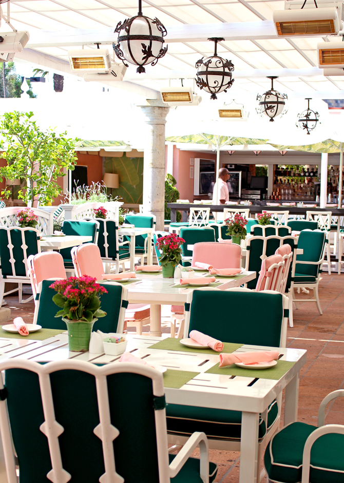 The Cabana Cafe At Beverly Hills Hotel Always Loveliest Place For Poolside Breakfast Or Lunch And A Feast Eyes As Well In S
