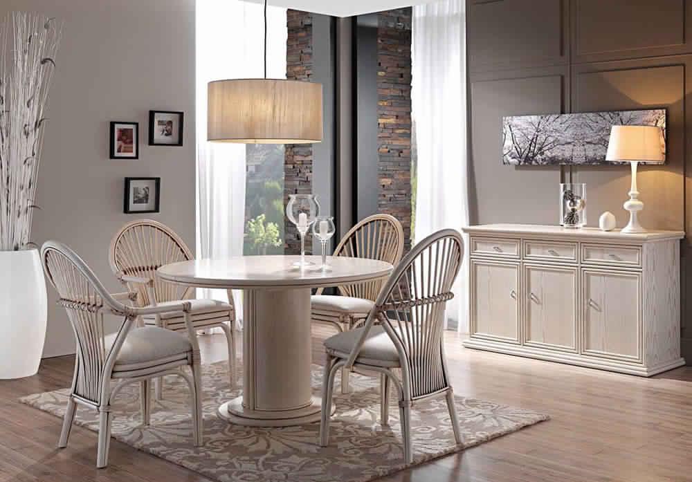 salle manger compl te avec table ronde salle manger. Black Bedroom Furniture Sets. Home Design Ideas