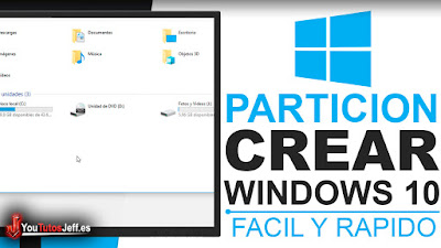 como crear una partición en windows 10