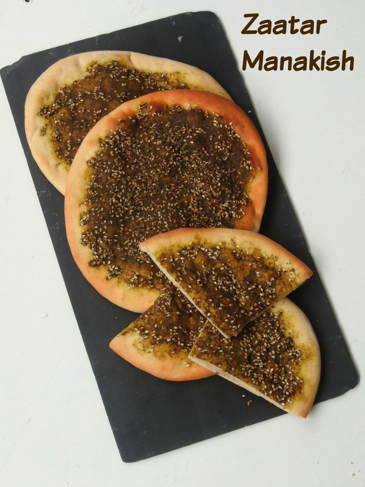 13+ Za'atar Manakish/Manakish Zaatar/Lebanese Spiced Pita Bread Image