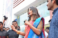 Puja Hegde looks stunning in Red saree at launch of Anutex shopping mall ~ Celebrities Galleries 144.JPG