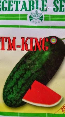 buah keras,tahan simpan,tahan pecah,Daging merah, tahan angkut, cepat panen,rasa manis,murah,inul, Gratis, Tani Murni, TM King, Semangka,