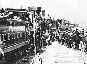 http://en.wikipedia.org/wiki/First_Transcontinental_Railroad