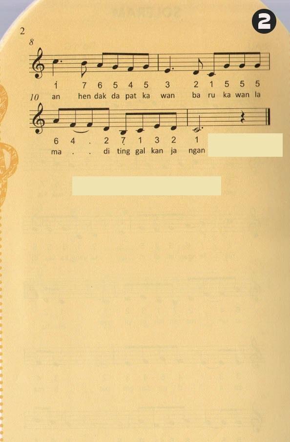 Not Angka Pianika Lagu Soleram - Lagu Daerah