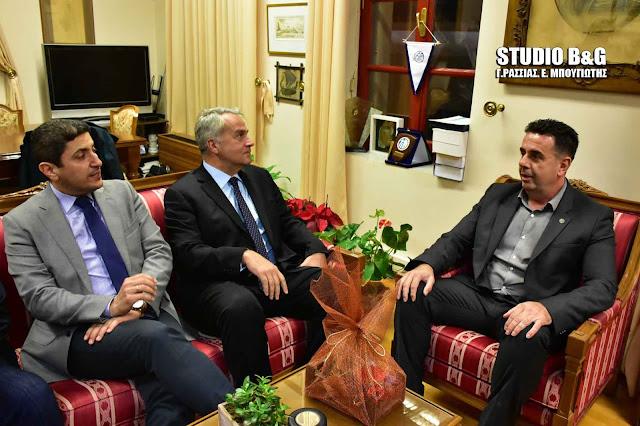 Επίσκεψη Αυγενάκη - Βορίδη στον Δήμαρχο Ναυπλιέων Δημήτρη Κωστούρο (βίντεο)