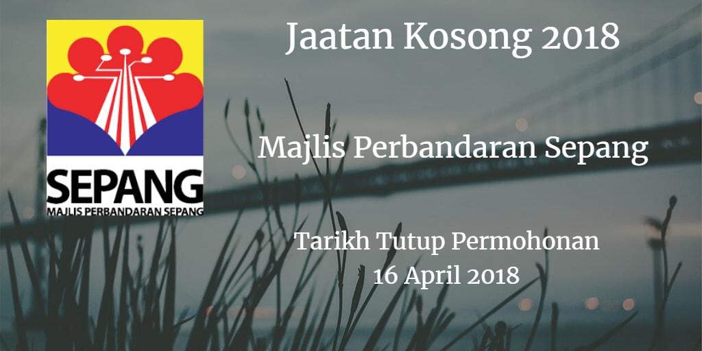 Jawatan Kosong MPSepang 16 April 2018