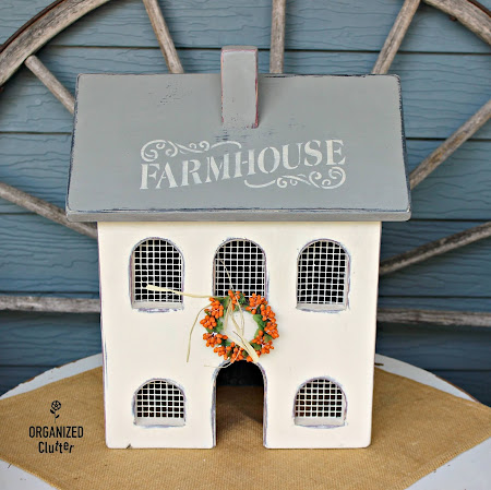 Upcycled Salt Box Lighted House