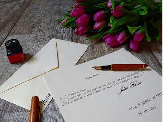 Imagens de uma carta
