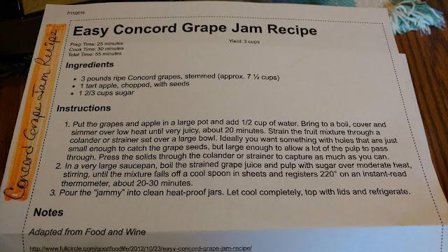 Concord Jam Recipe