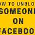 Facebook Unblock someone