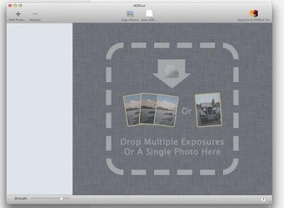 HDR写真ソフト操作画面