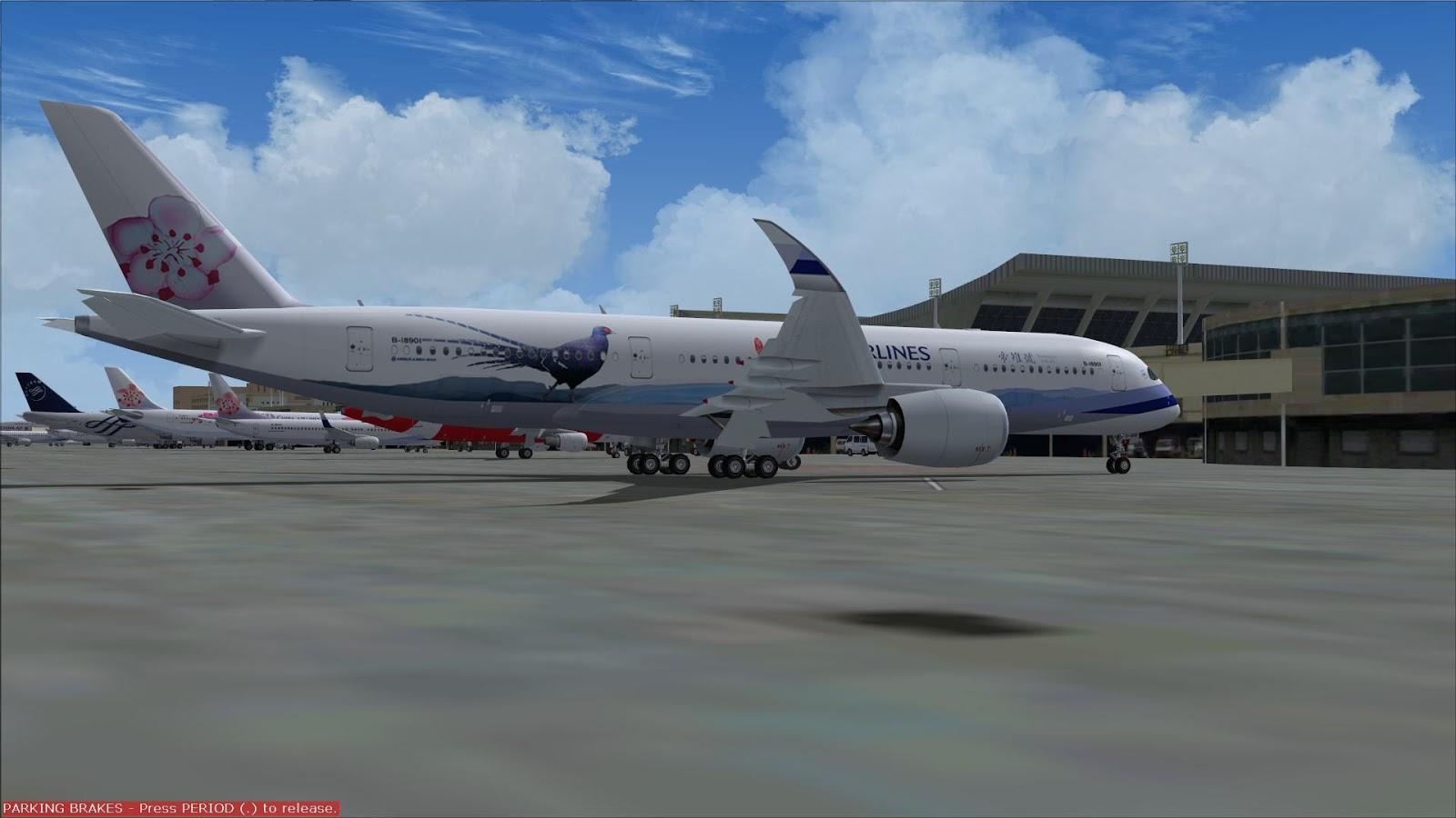 FSRepainter: FSPXAI A350-900 China Airlines B-18901 Mikado