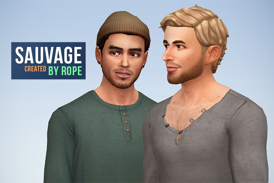 my sims 4 blog sauvage hair for males by rope. Black Bedroom Furniture Sets. Home Design Ideas