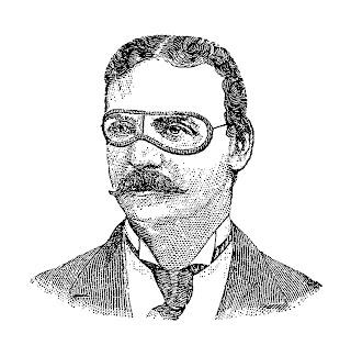 man goggles image illustration vintage drawing artwork