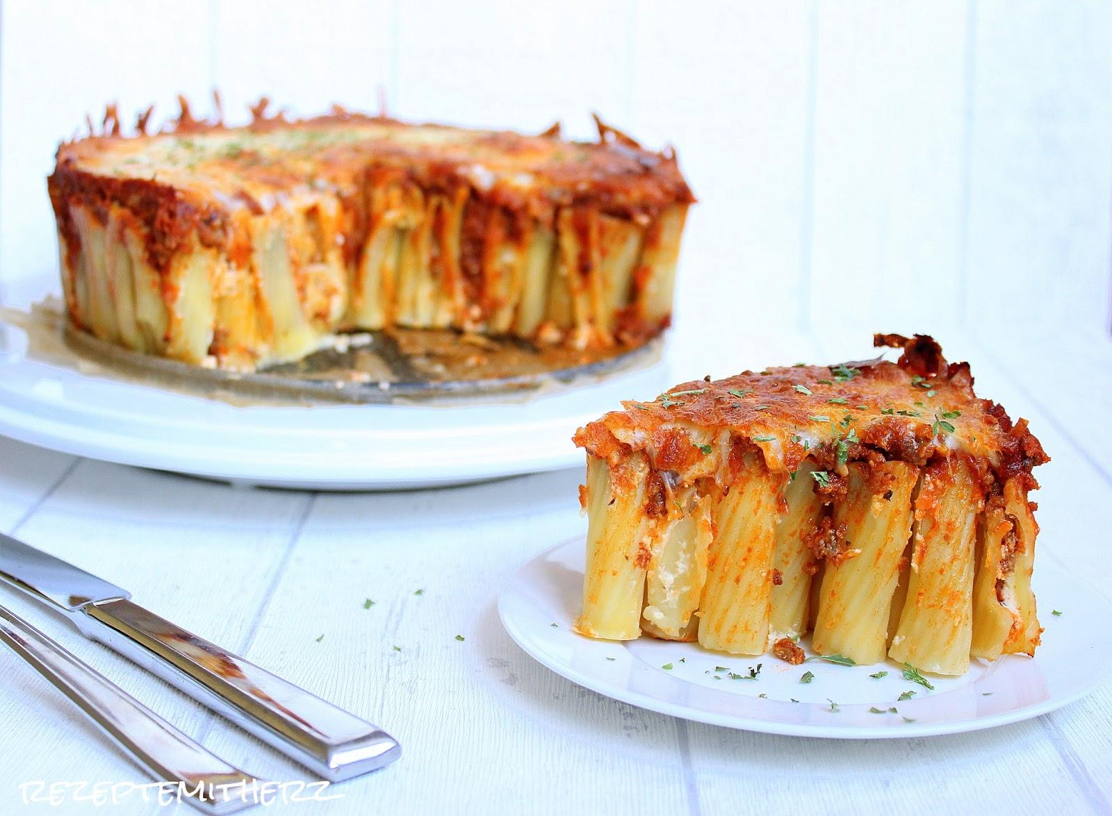 Rigatoni Torte Nudeltorte Pasta Torte Thermomix Rezept